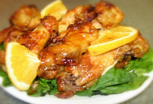 Spicy Orange Chicken Wings at PakiRecipes.com