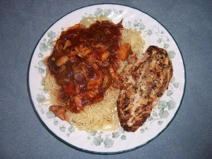Chicken Steak With Red Sauce