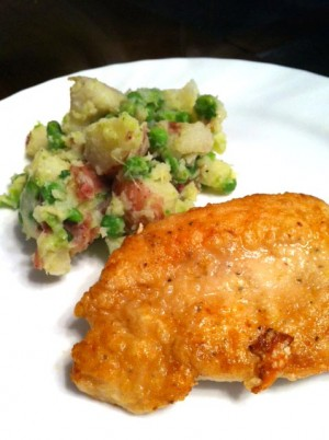 Chicken Cutlets With Potatoes And Peas at PakiRecipes.com