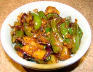Shimla Mirch Ki Sabzi at PakiRecipes.com