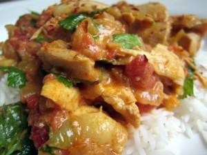 Spicy Apple/chicken Salaan