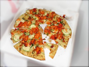 Simplest Vegetable Chicken Cheese Pizza at PakiRecipes.com