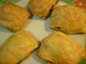 Cheese And Onion Pastries recipe