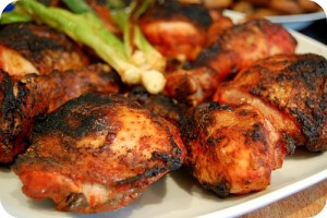 Barbecued Tandoori Chicken recipe