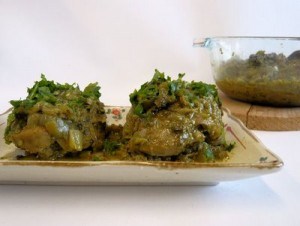 Chicken In Green Masala at PakiRecipes.com