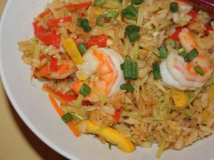 Prawns And Vegetable Rice at PakiRecipes.com