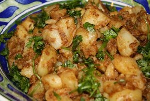 Aloo Aur Sabut Lal Mirch Ki Bhujia at PakiRecipes.com