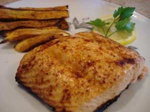 Baked Fish With Fries at PakiRecipes.com
