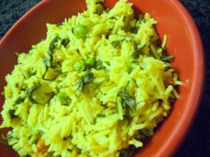 Spicy Green Rice at PakiRecipes.com