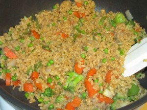 Rice And Veggies Stir Fry