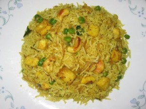 Paneer Fried Rice at PakiRecipes.com