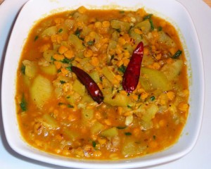 Channa Dal With Green Capsicum at PakiRecipes.com